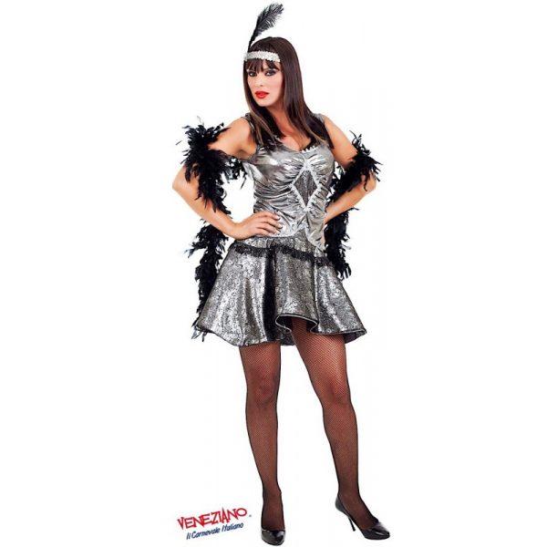 Deluxe Lady Cabaret Kostüm Inkl. Zubehör Erwachsene Small-0