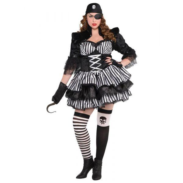Dunkle Korsarin Pirat Kostüm Damen X-Large-0
