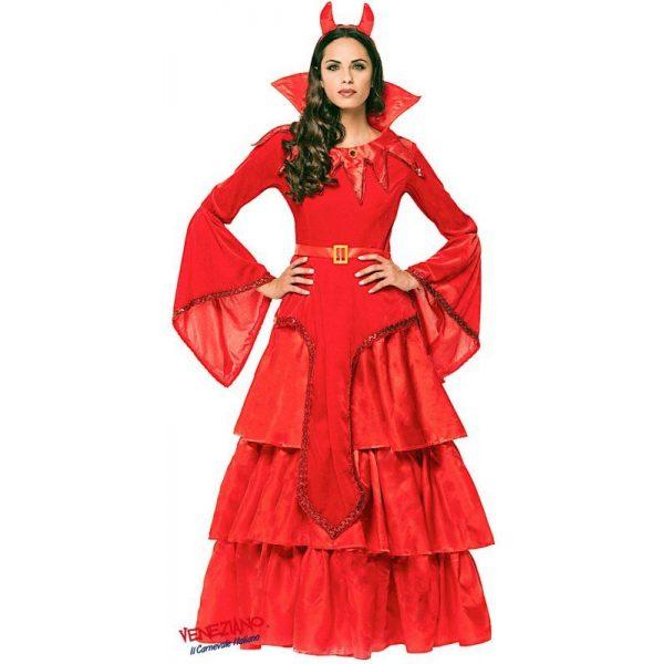 Deluxe Red Lady Kostüm Inkl. Zubehör Erwachsene Small-0
