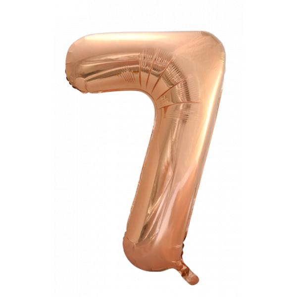 Zahlenballon 7 Rose Gold 86 cm-0