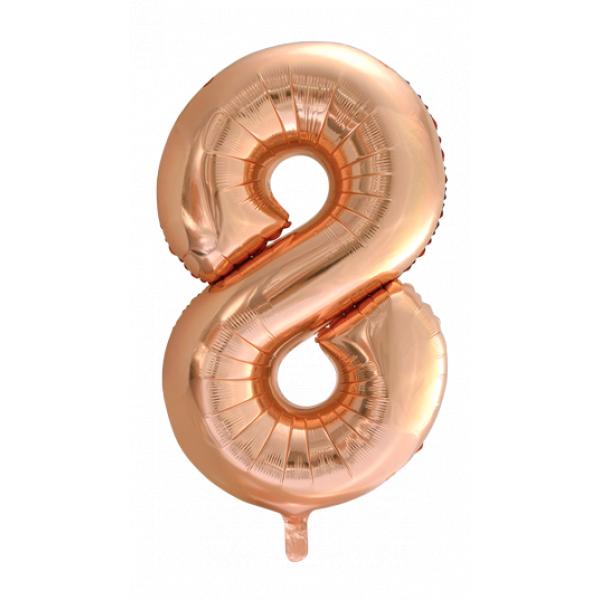 Zahlenballon 8 Rose Gold 86 cm-0
