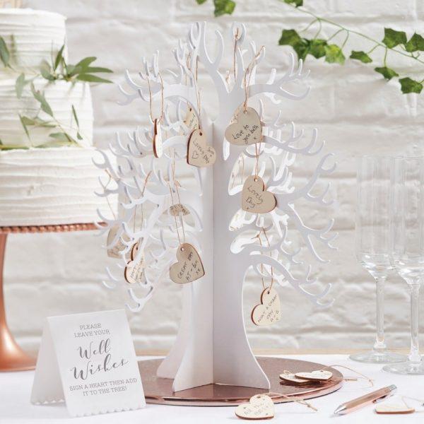 Wishing Tree Herzbaum Gästebuch -0