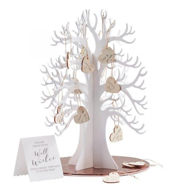 Wishing Tree Herzbaum Gästebuch -6969