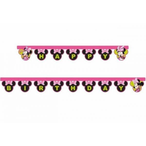 Minnie Maus Happy Birthday Girlande -0