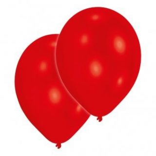 10 Rote Luftballons 28 cm-0