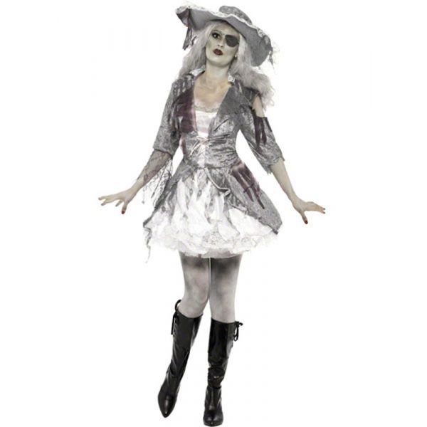 Geisterschiff Zombie Piratin Kostüm Large-0