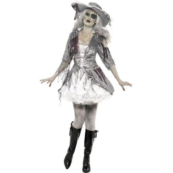 Geisterschiff Zombie Piratin Kostüm Medium-0