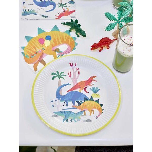 8 Dinosaurier Pappteller -0
