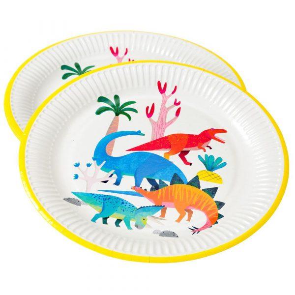 8 Dinosaurier Pappteller -7130