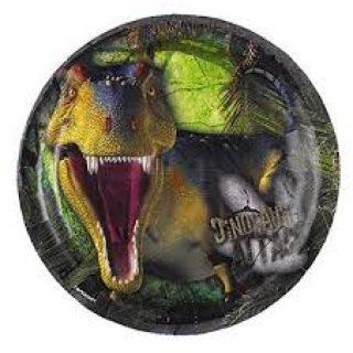 8 Jurassic Dinosaur Pappteller Klein-0