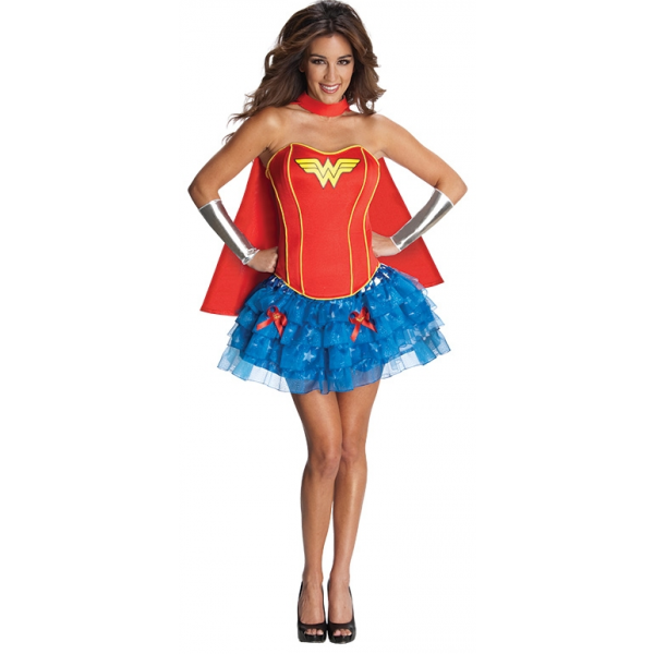 Wonder Woman Kostüm Korsettkleid Medium-0