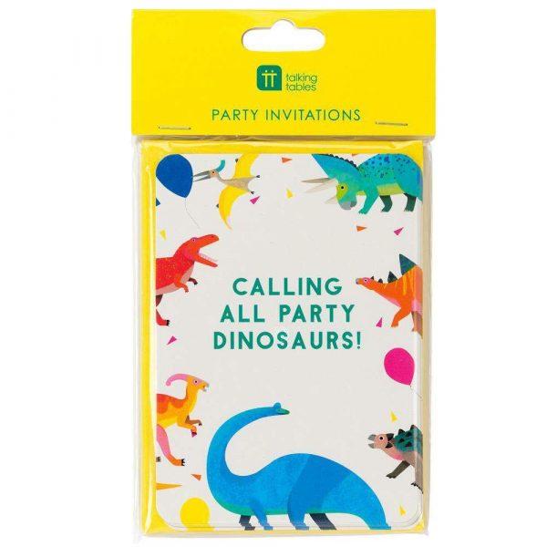 8 Dinosaurier Einladungen-7226