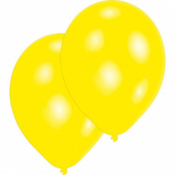 10 Gelbe Luftballoons 28 cm-0