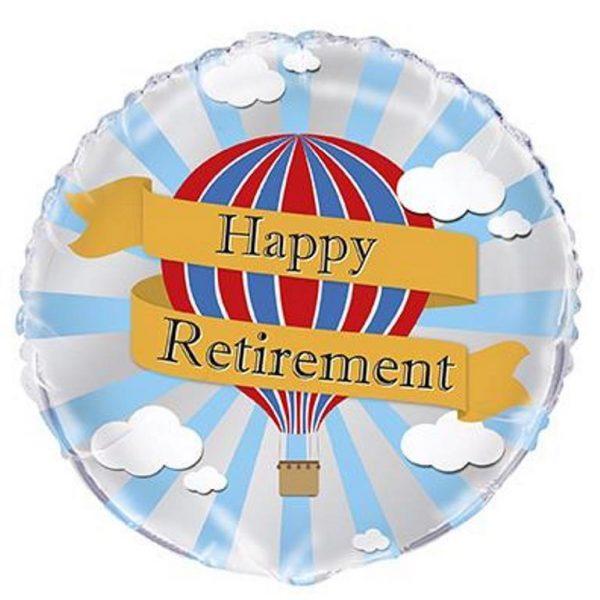 Happy Retirement Heissluftballon Folienballon 45 cm-0