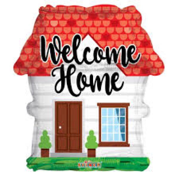 Welcome Home Haus Folienballon 45 cm-0