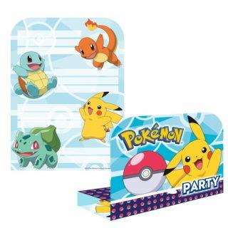 8 Pokemon Einladungen -0