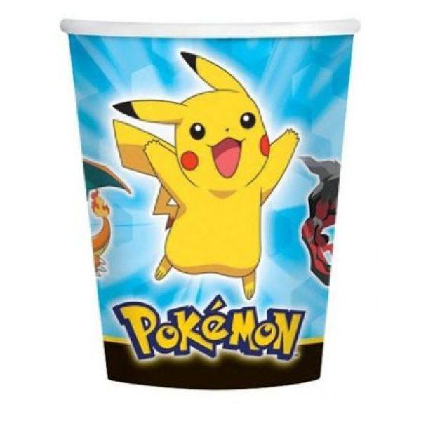 8 Pokemon Pappbecher 250 ml-0