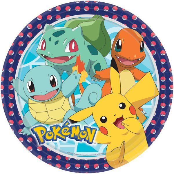 8 Pokemon Pappteller 23 cm-0