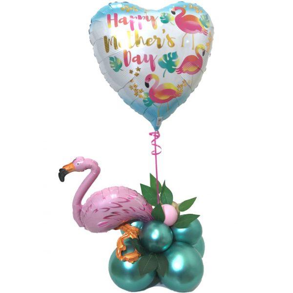 Flamingo Herz Muttertag Ballondekoration-0