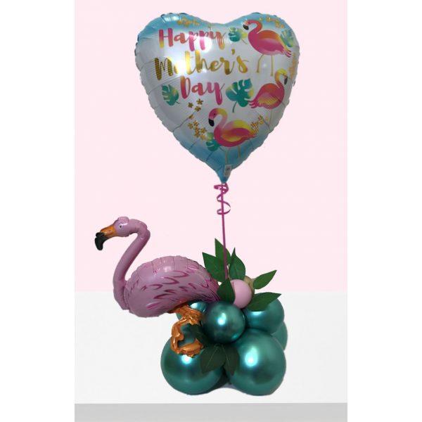 Flamingo Herz Muttertag Ballondekoration-7332