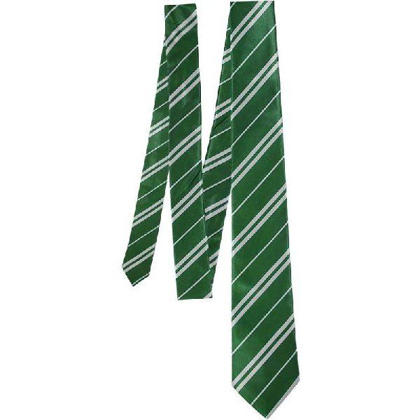 Zauberschule Haus Krawatte Grün Silber-0