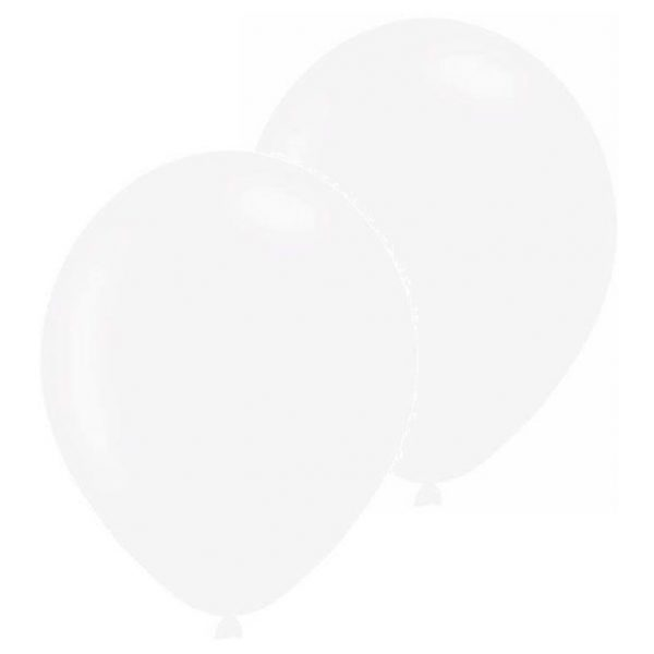 10 Pearl Weiss Latex Ballons 28 cm-0