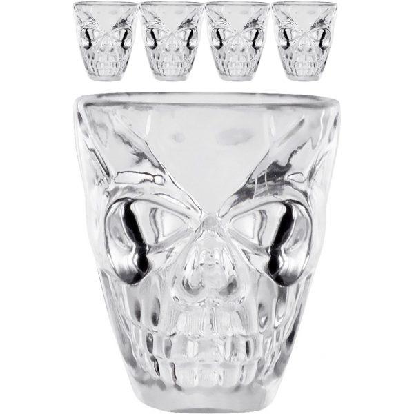 4 Stk. Skull Totenkopf Schnapsgläser 50 ml-0