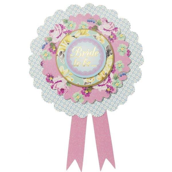 Bride To Be Truly Hen Rosette-0