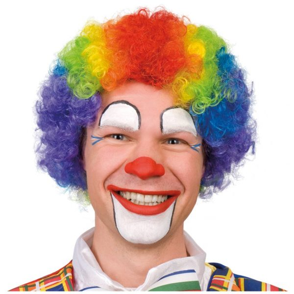 Rainbow Clown Perücke Erwachsene-0