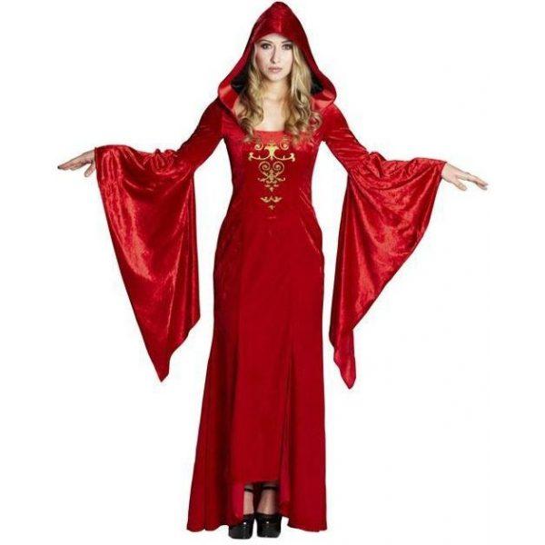 Die Rote Frau Kostüm Damen Gr 42-0