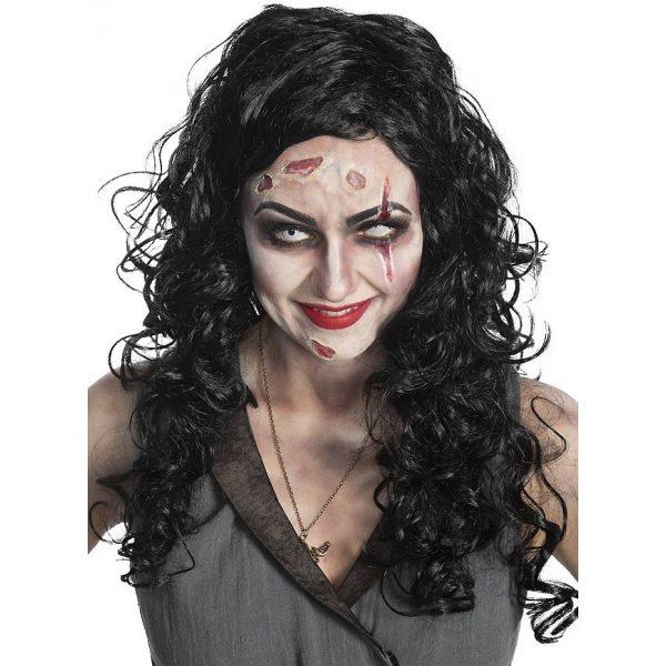 Zombie Piratin Perücke Erwachsene-0