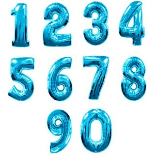 xl blaue zahlenballons Geburtstagspartydeko