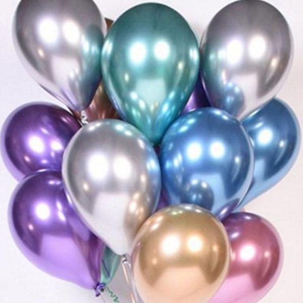 chrome metallic luftballonstrauß bestellen